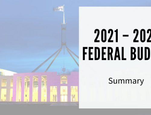2021 – 2022 Federal Budget